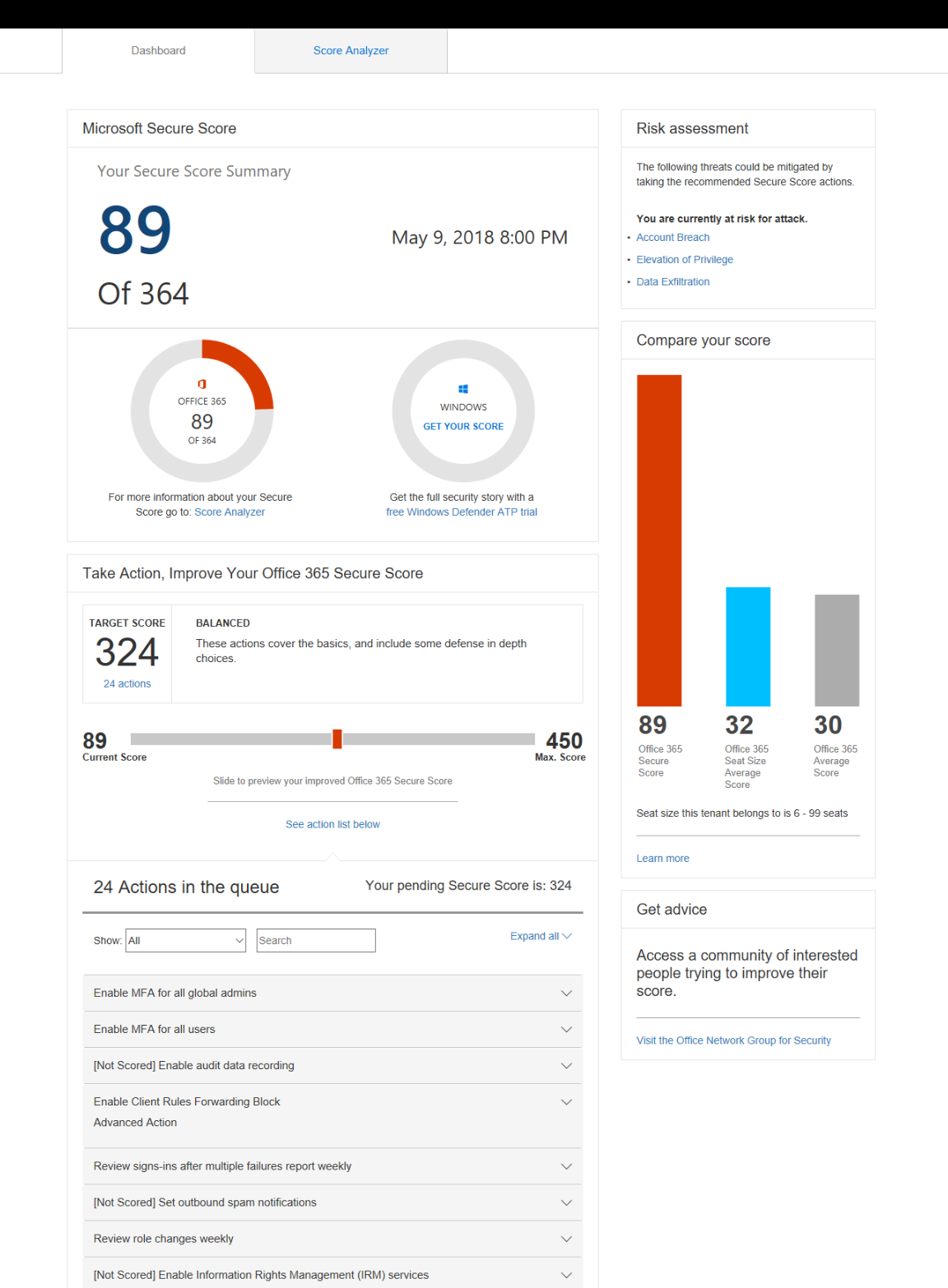 Office 365 Secure Score