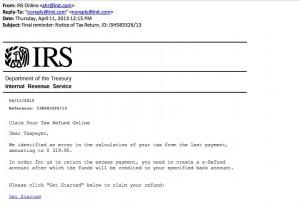 IRS Phishing Scam